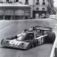 F1 Historic - A six-wheel drift, the only pic of someone able to break traction on the Tyrrell P34.