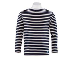 Marinière Orcival - Mixte Coton Lourd Marine / Ecu 100% made in France