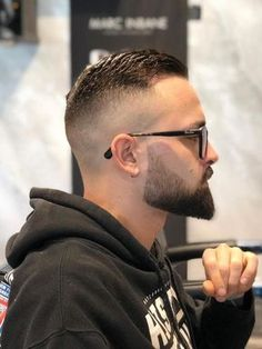 Old School Skin Fade Slick Back Haircut