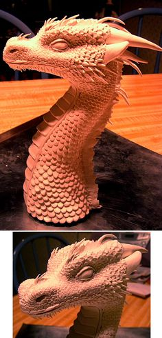 Clay Dragon - WIP by inoculated.deviantart.com on @deviantART
