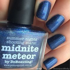 Starry starry night who? @picturepolish- midnite meteor  #beautywithsky #blue #manicure #nails #nailstagram #nailswag #instanails #instalike #nailsoftheday #notd #potd #instabeauty #instadaily #beauty #nailpolish #nailsnailsnails #ignails #nailsdone #instafollow #nailsofig #nailsofinstagram #picturepolish #bluenails #sparkle