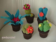 cactus a crochet Crochet Home, Love Crochet, Diy Crochet, Crochet Flower Patterns, Crochet Flowers, Cactus En Crochet, Cactus Craft, Cactus Cactus, Cacti