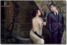 Couture Engagement Photo Session at Castello di Amorosa