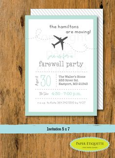 Going Away Party, Moving Party Invitation, Beer Packing Party, We Are Moving…