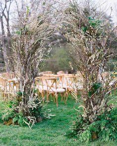 30 Bright Ideas Of Wedding Ceremony Decorations ❤ wedding ceremony decorations spring greenery #weddingforward #wedding #bride