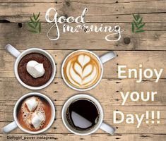 Enjoy your day morning pics, free image quote for morning pics , for good morning wishes and morning greetings. Free good morning wishes image Morning Pics, Morning Pictures, Good Morning Wishes, Morning Quotes, Mrng Wishes, Wishes Images, Morning Greeting, Free Image, Coffee
