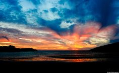 """Special Cemaes Bay Sunset taken on """"the longest day"""" of the year, the Summer solstice, 21 June 2010"""