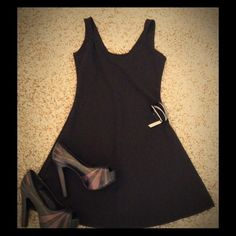 "Little Black Dress +++ Small little black dress, approximately 32"" long, slip on style WITH a fabulous pair of size 7 Jessica Simpson platforms AND brand new Charming Charlie bracelet!! SEE INDIVIDUAL LISTINGS FOR MORE DETAIS & PICTURES. Will break up the bundle upon request Other"