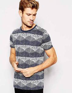 Image 1 of ASOS T-Shirt With All Over Print