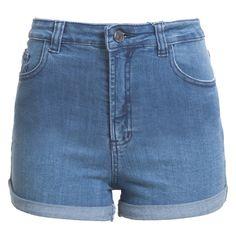 FARM - Short jeans Farm cintura alta - azul - OQVestir