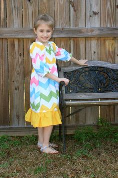 Girls Chevron Dress Easter Dress Peasant by SweetHomeBoutique, $45.00