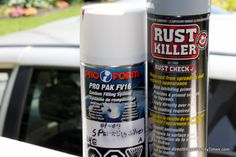 A quick and easy tutorial to remove and cover rust on your old car. Make your beater better! DIY. Saving money on fixing up your car.