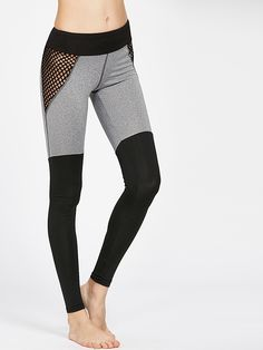Shop Color Block Fishnet Mesh Insert Leggings online. SheIn offers Color Block Fishnet Mesh Insert Leggings & more to fit your fashionable needs.