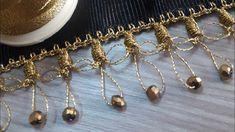 Crochet Cord, Crochet Lace Edging, Crochet Motifs, Crochet Borders, Crochet Stitches, Hand Embroidery Videos, Diy Embroidery, Crochet Jacket, Handmade Beads