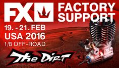 FX factory team Juraj Hudy & Martin Bayer will be available to provide #FX support at the upcoming DIRT Nitro Challenge on 19. – 21. February 2016 in Phoenix, US. #Engine #RCcar