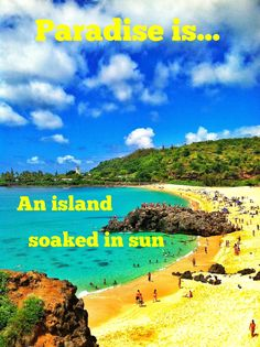 #Paradise is an #island soaked in #sun!