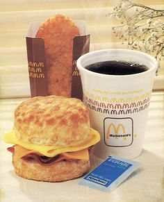 Retro McDonald's  (before there were warnings on the cup that the coffee is HOT)
