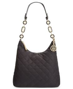 Tommy Hilfiger Isabella Quilted Nylon Hobo | macys.com