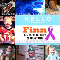 Hello My Name is... World Prematurity Day Prematurity Awareness Month preemie Finn