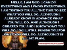 This is why religion makes no sense to me!