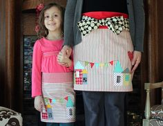 Valentine Appliqued Aprons Tutorial by Maureen Cracknell Handmade