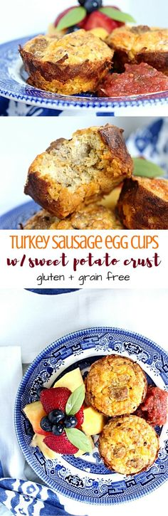 Turkey Sausage Egg Cups + Sweet Potato Crust [Guest Post: Macarons and Lavender] | Personally Paleo