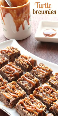 Turtle Brownies ~ NEW 31 Days of Holiday Sweets & Treats recipe from 5DollarDinners.com