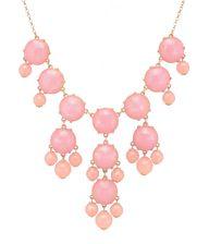 Color Bubble BIB Statement Fashion Necklace - Pink, $9.99