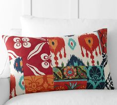 Rosie Patchwork Lumbar Pillow Cover | Pottery Barn