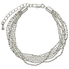 Buy John Lewis Layered Fine Chain Bracelet, Silver Online at johnlewis.com