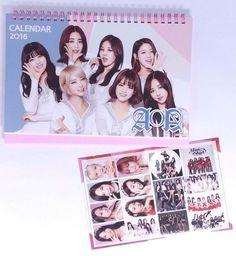 AOA KPOP 2016 2017 Desk Calendar (with Sticker ) New Year K-POP Korean Korea Pop
