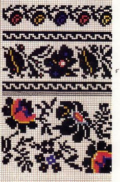 FolkCostume&Embroidery: More on the costume and embroideryl from Sokal' region, Ukraine Beaded Cross Stitch, Cross Stitch Borders, Cross Stitch Designs, Cross Stitching, Cross Stitch Patterns, Russian Embroidery, Folk Embroidery, Cross Stitch Embroidery, Embroidery Patterns