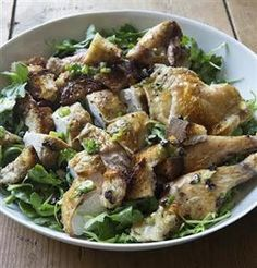 Made this last night for dinner and it was absolutely delicious!!!  We loved it!  FRIDAY NIGHT CHICKEN with Bread Croutons and Arugula Salad: MAKE IT AHEAD!