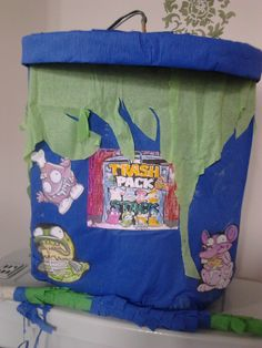 This one was fun to do ....bit different also. First time I've made a trash can pinata !