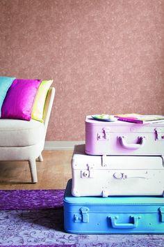 Behang oranje/roze Eye - BN Wallcoverings