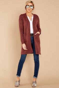 987b3bdfa0 Darling Burgundy Red Knit Cardigan - Cozy Oversized Cardi - Top -  42 – Red  Dress Boutique