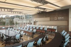 Beautiful installation of our M60 Swing Away + Humanscale Liberty Chairs in UC Berkeley's Senate Chambers.  Architect: Moore Ruble Yudell Photo Credit: Colins Lozada