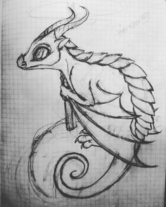 Dragon Sketch #workinprogress #drawing #sketch #dragon #fantasy #art #wip
