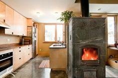 Kiwi House Bozeman Montana - Tulikivi fireplace built by WarmStone Fireplaces and Designs www.warmstone.com