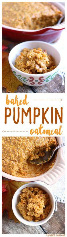Baked Pumpkin Oatmea