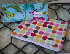 Polka Dot Burp Cloths Set of 2 Handmade