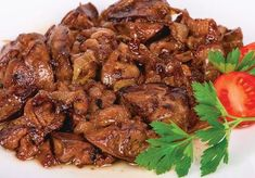 Chicken Liver With Onion Lunch Recipes, New Recipes, Cooking Recipes, European Dishes, Good Food, Yummy Food, Greek Recipes, Diy Food, My Favorite Food