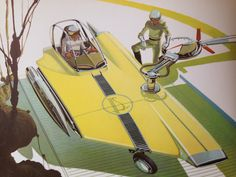 Syd Mead - U.S. Steel Concepts Blade Runner, Syd Mead, Illustrations Vintage, Retro Futuristic, Science Fiction Art, Sci Fi Fantasy, Sci Fi Art, Mechanical Design, Concept Art