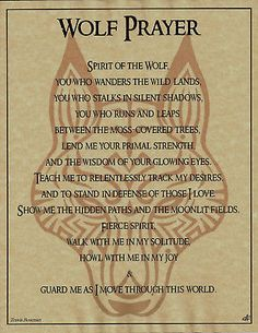 Wolf Prayer Parchment for Book of Shadows Page! pagan wicca witch in Collectibles, Religion & Spirituality, Wicca & Paganism Phrase Cute, Animal Spirit Guides, Wolf Spirit Animal, Wolf Quotes, Book Of Shadows, Magick, Pagan Witchcraft, Wiccan Witch, Spelling