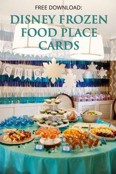 Rambling Renovators: Download: Disney Frozen Food Place Cards