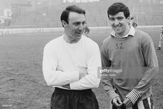 Jimmy Greaves of the England football team with Terry Venables, UK,. London Football, Football Team, Chelsea Football, Jimmy Greaves, Tottenham Hotspur Football, England Football, North London, Documentaries, Nostalgia