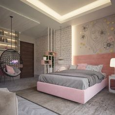 51 Cool Bedrooms With Tips To Help You Accessorize Yours Girl Bedroom Designs Accessorize bedrooms Cool tips Bedroom Bed Design, Small Room Bedroom, Room Ideas Bedroom, Home Decor Bedroom, Bed Room, Bedroom Girls, Diy Bedroom, Small Rooms, Teenage Bedrooms