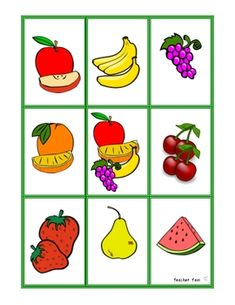 FREE  matching game to learn the names of fruits in Mandarin and their characters.