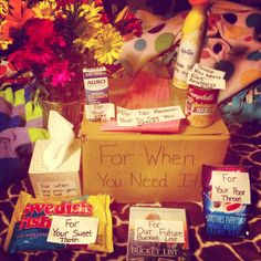 "Idea off of ""The Vow""  Care package from my boyfriend yesterday ❤"