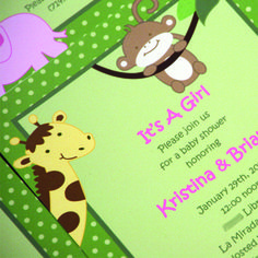 Jungle Girl Baby Shower Invitation by MailMyHeart on Etsy, $1.10